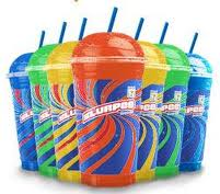 """7-11 and their popular """"free Slurpee Day."""" USA Today, Slurpee sales shot up 38% on Free Slurpee Day even though the chain gave away 4.5 million of the drinks—because when people came in to get their Slurpee, they bought other items as well."""