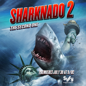 "The July 30 2014 debut of Sharknado 2: The Second One"" sucked in an astonishing 3.9 million total viewers. That is a 180%--yes, you read that correctly—increase versus the original telepic."
