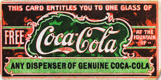 Believed to be the first coupon ever, this ticket for a free glass of Coca-Cola was first distributed in 1888 to help promote the drink. By 1913, the company had redeemed 8.5 million tickets