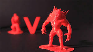 A monster you can hold in your hand! 3D printing promo was extremely effective and created buzz around the launch of  'Evolve'