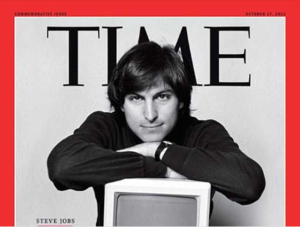 "Time Magazine dubbed Jobs ""the inventor of the future."""